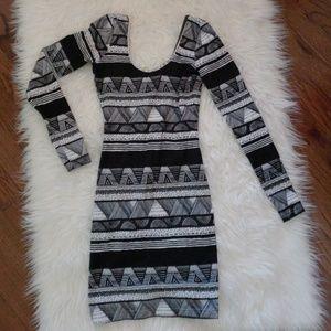 American Apparel Tribal Print Bodycon Dress